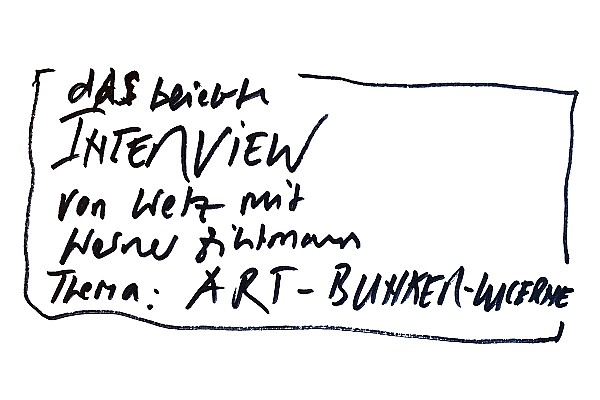 Art-Bunker-Lucerne Interview mit Wetz